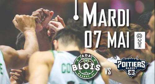 Gagnez vos places pour le match ADA Blois Basket - Poitiers Basket...
