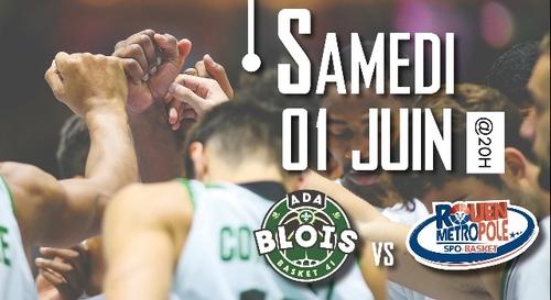 Gagnez vos places pour le match ADA Blois Basket - Rouen Métropole...