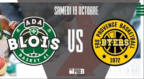 Gagnez vos places pour le match ADA Blois Basket - Fos Provence Basket