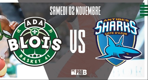 Gagnez vos places pour le match ADA Blois - Sharks d'Antibes !