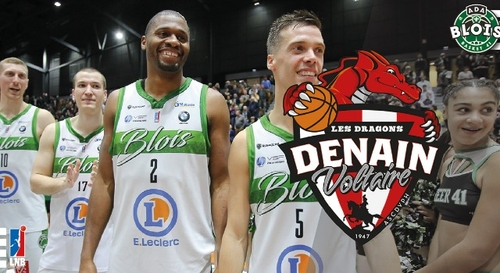 Gagnez vos places pour le match ADA Blois Basket - Denain