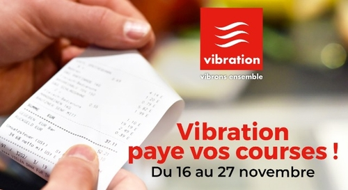 Vibration paye vos courses !