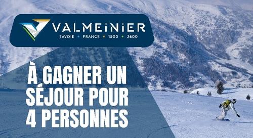 Gagnez un séjour de folie au ski à Valmeinier !