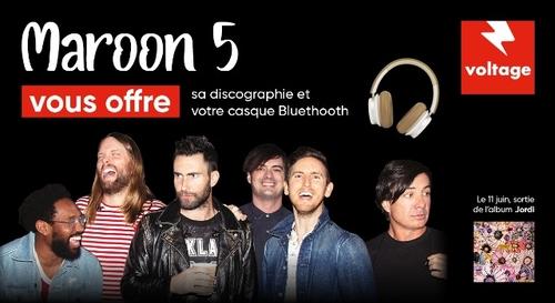 Maroon 5 vous offre sa discographie et un casque Bluetooth