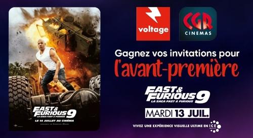 """Gagnez vos invitations pour l'avant-première de """"Fast & Furious 9"""""""