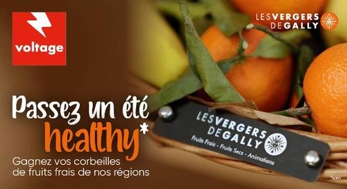 Gagnez votre corbeille de fruits frais de la région
