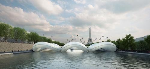 Paris : Un pont trampoline en plein coeur de la capitale ?