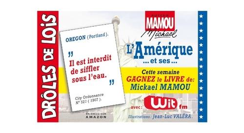 """Gagnez """"L'Amérique et ses drôles de lois"""", le livre de Mickael Mamou"""