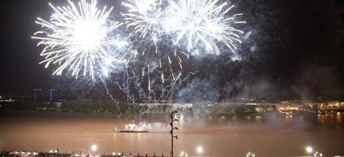 15 congrès du feu d'artifice à Bordeaux